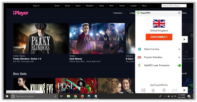 PureVPN BBC iPlayer