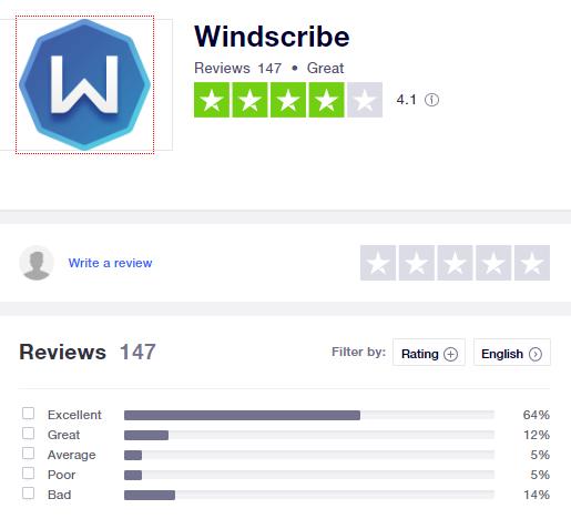 Windscribe-trustpilot-rating-2020