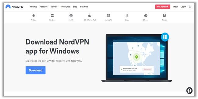 NordVPN-App-Download-Seite