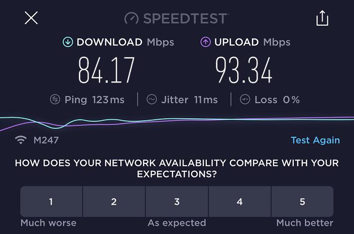 expressvpn-speed-test-result-Italy-server