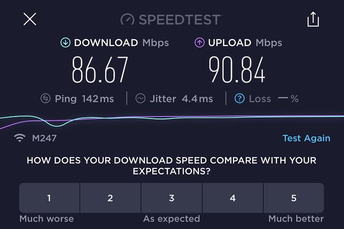 expressvpn-speed-test-result-Switzerland-server