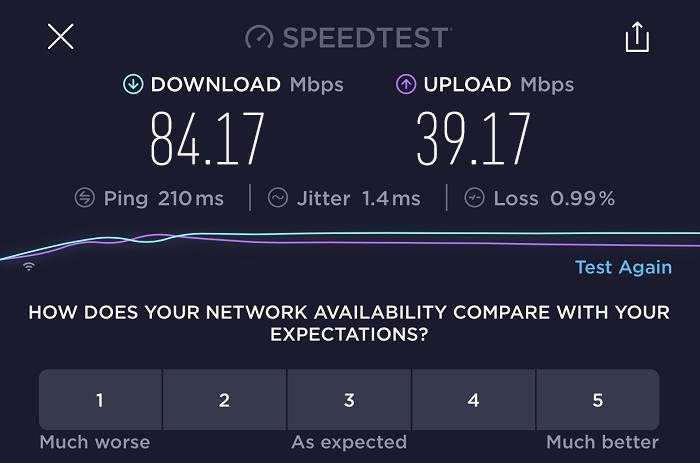 expressvpn-speed-test-result-canada-server