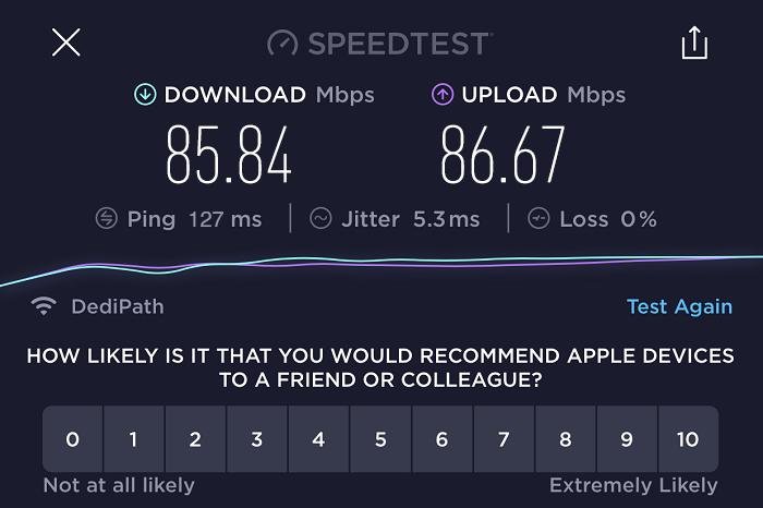 expressvpn-speed-test-result-netherlands-server