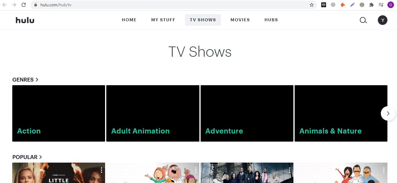 Hulu website unblockeed with PureVPN